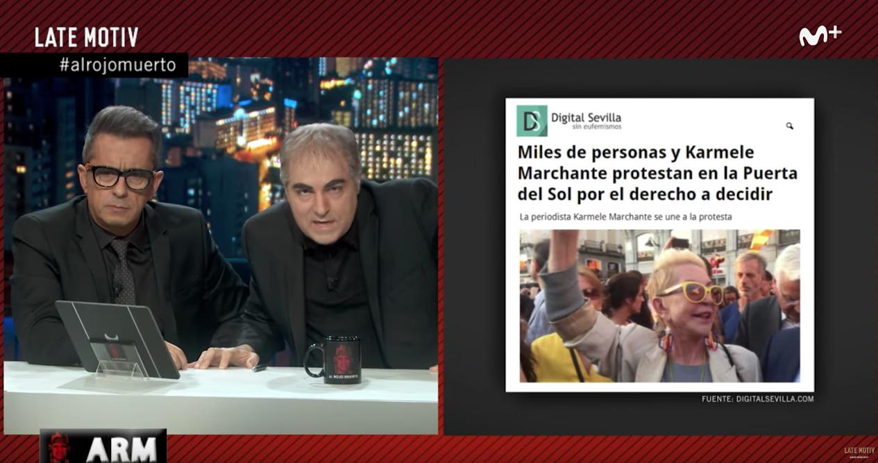 El programa 'Late Motiv' de Andreu Buenafuente comentó un artículo de Digital Sevilla.