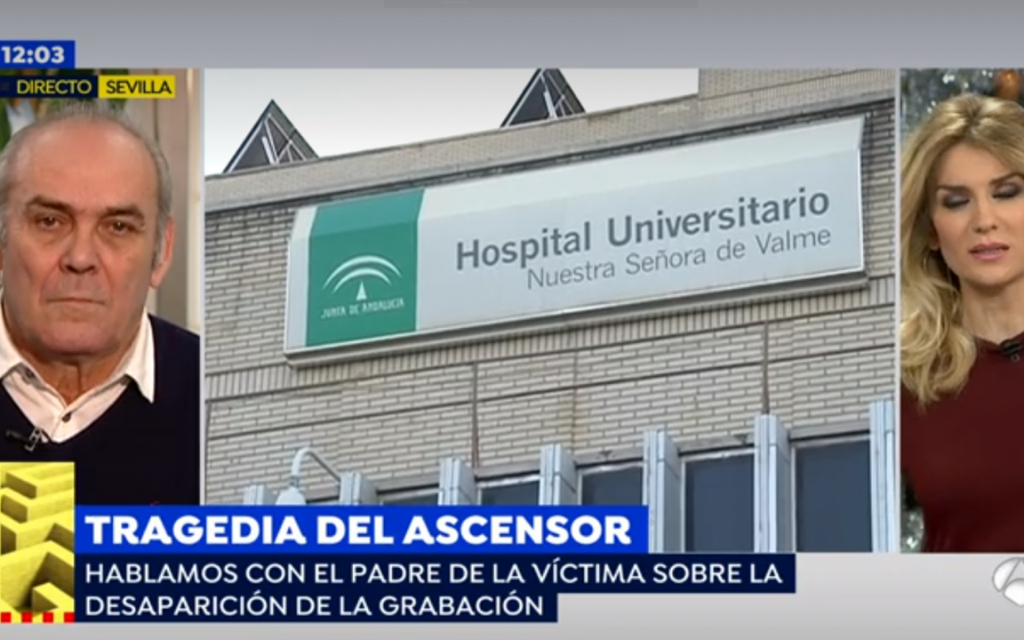Juan Cortés, padre de la víctima del ascensor asesino de Valme, entrevistado en Espejo Público.