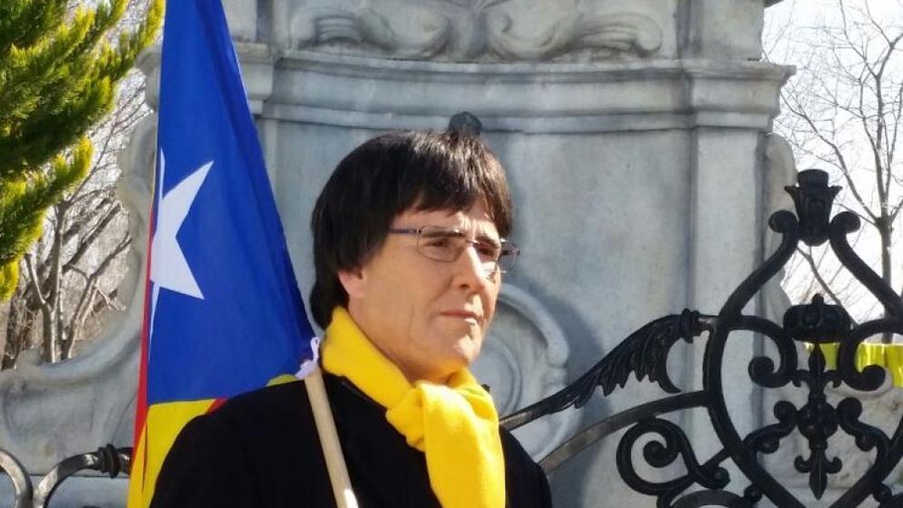 Joaquín Reyes caracterizado como Carles Puigdemont