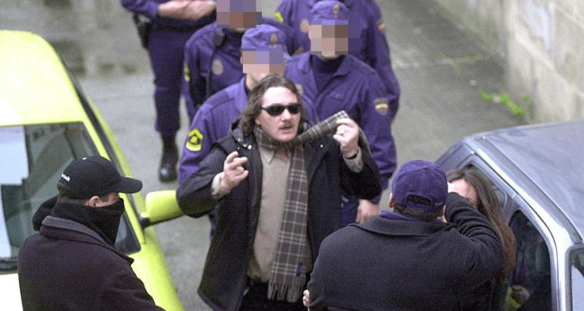 Sito Miñanco tras ser detenido por la Policía