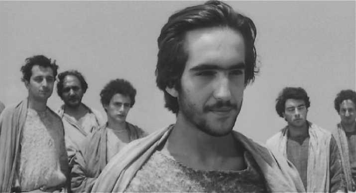 El actor español Enrique Irazoqui en El Evangelio según San Mateo de Pasolini