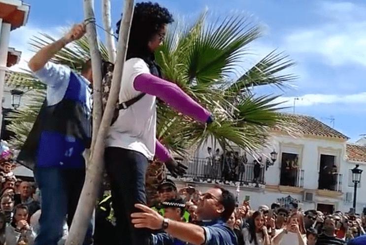 Fiesta de la quema de San Judas, Coripe. Fuente: Youtube
