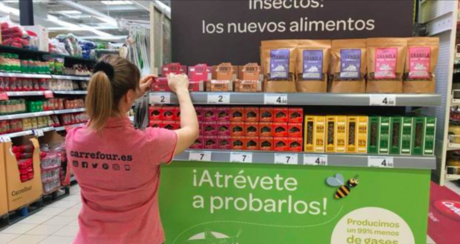 Carrefour empieza a vender insectos. Fuente: Twitter