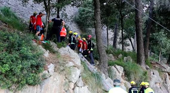 Lugar del accidente. Fuente: Crónica Balear