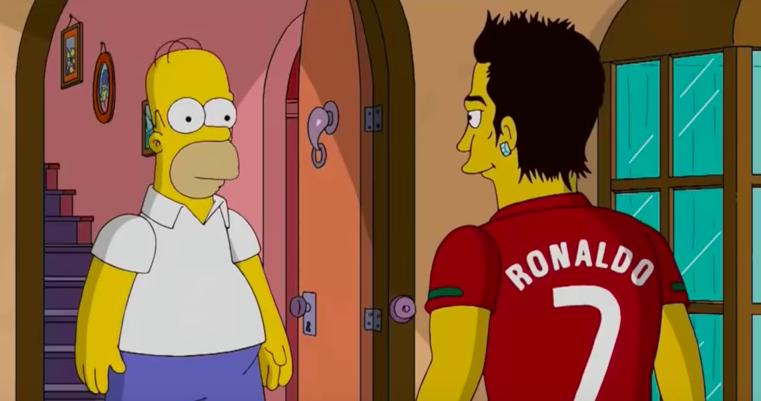 Cristiano Ronaldo en el comentado episodio de Los Simpson