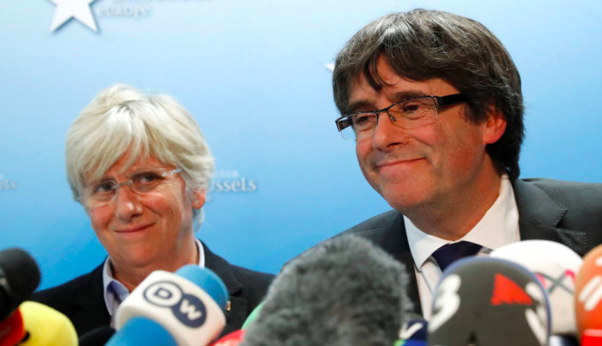 Laexconsellera Clara Ponsatí y el expresident Carles Puigdemont