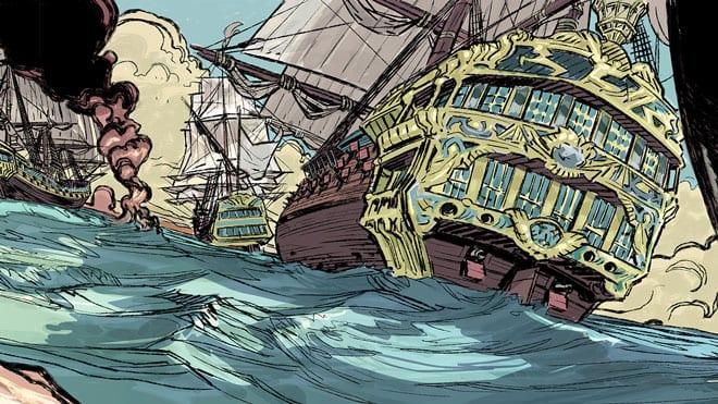 Viñeta del cómic 'Blas de Lezo'
