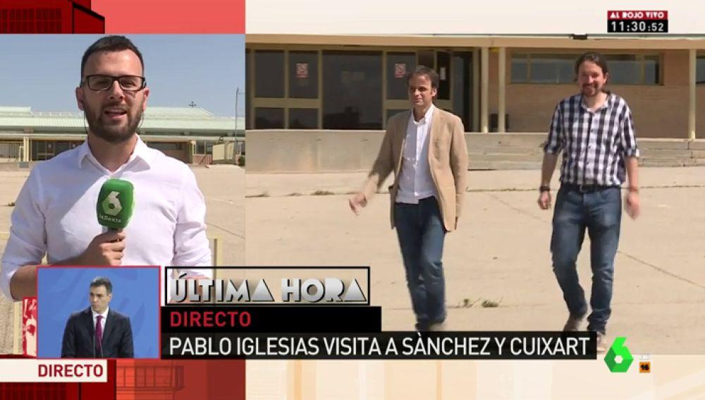 LaSexta retransmite la visita de Iglesias a Cuixart en Soto del Real