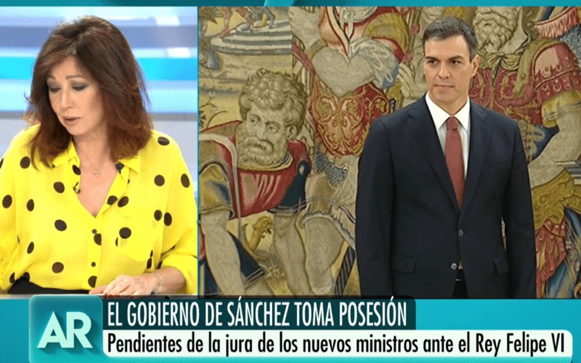 Ana Rosa Quintana asegura que a Pedro Sánchez