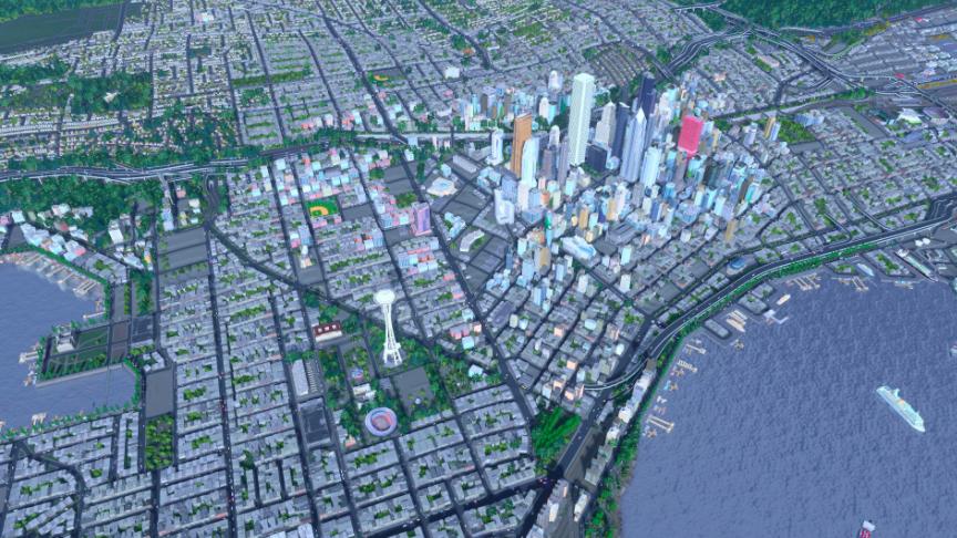 Ciudad creada con el videojuego Cities: Skylines