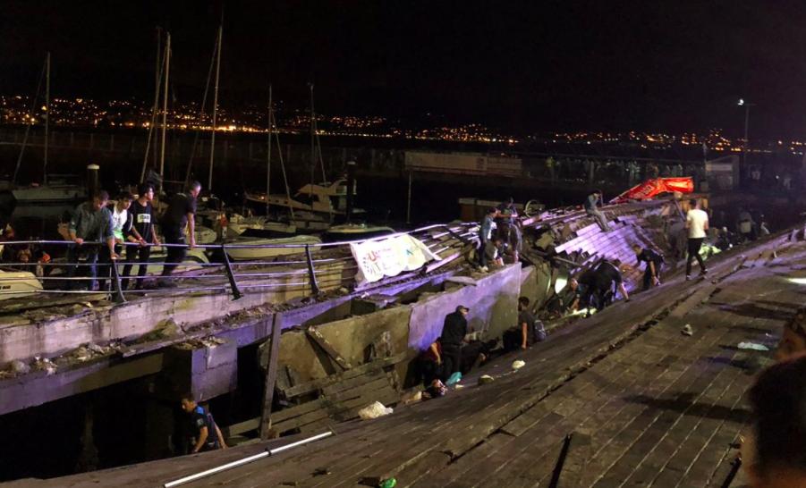 Plataforma del puerto de Vigo que cedió causando más de 300 heridos