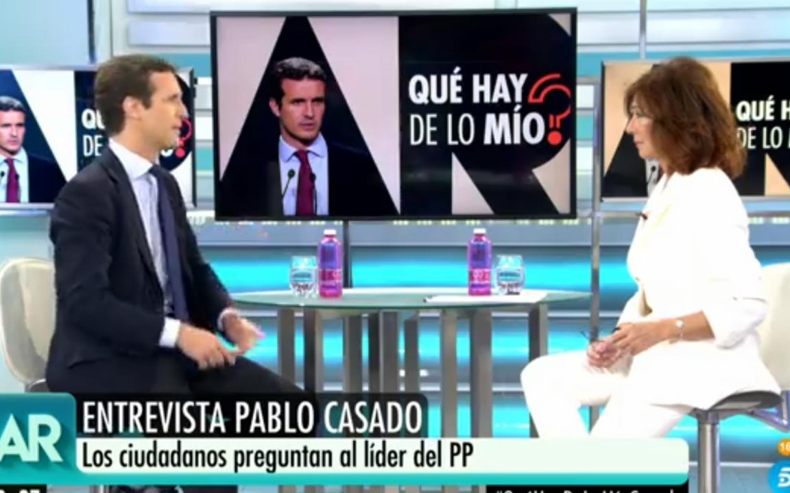 Pablo Casado y Ana Rosa Quintana