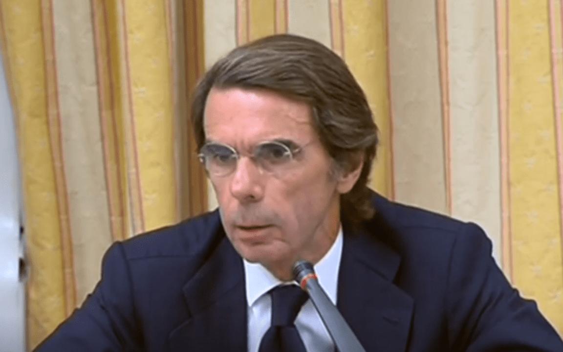 Aznar en la comisión sobre la financiación ilegal del PP