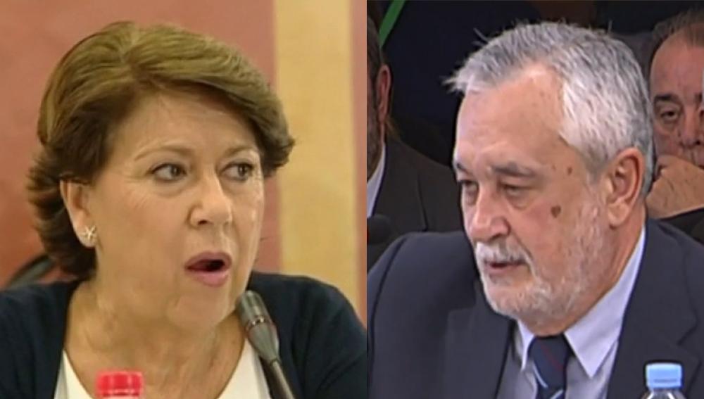 Magdalena Álvarez y José Antonio Griñán