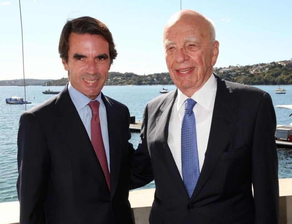 Aznar y el magnate Murdoch, su jefe