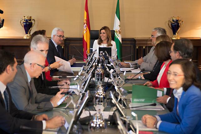 Gobierno de la señora Díaz. Fuente: Junta de Andalucía