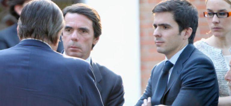 José María Aznar y su hijo José María Jr.