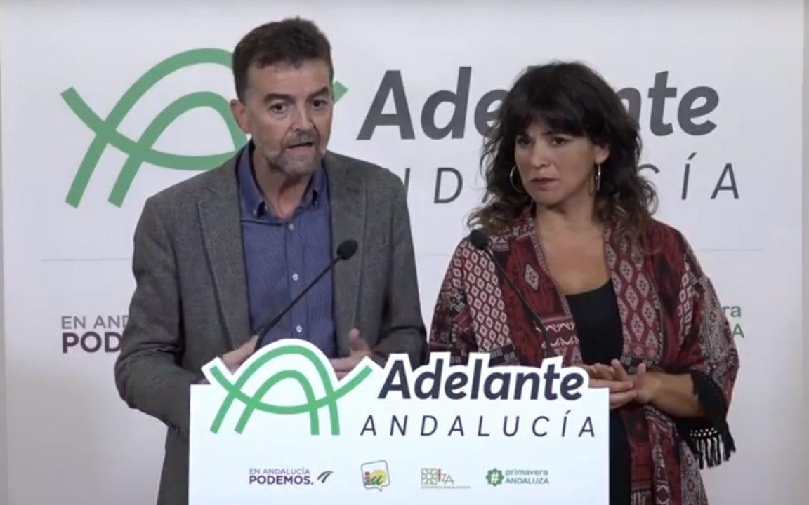 Antonio MaÍllo y Teresa Rodríguez, candidatos por Adelante Andalucía
