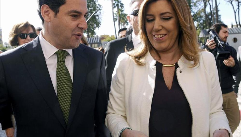 Juanma Moreno y Susana Díaz, presidente y expresidenta de la Junta