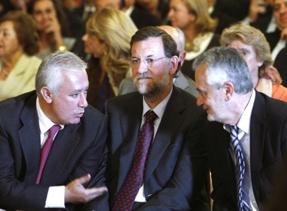 Arenas, Rajoy y Griñán