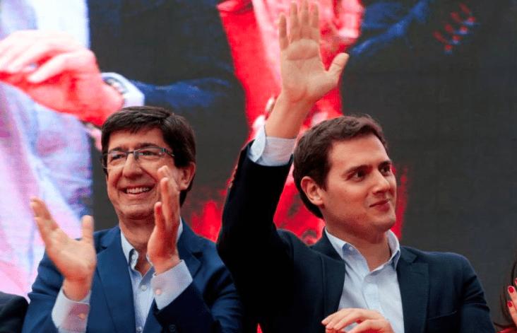 Juan Marín y Albert Rivera, líderes de Ciudadanos en Andalucía y España