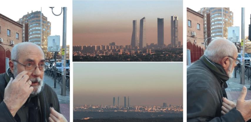 Un hombre niega que el aire de la ciudad de Madrid esté contaminado