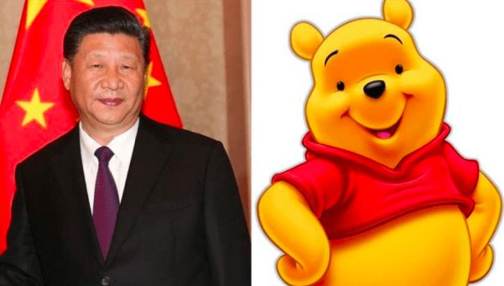 Xi Jinping (Derecha) y Winnie the Pooh (Izquierda)