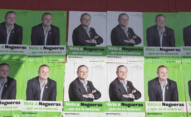 Ignacio Nogueras en carteles electorales de Vox