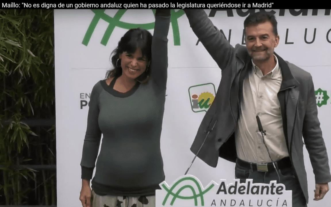Teresa Rodríguez y Antonio Maíllo en Córdoba