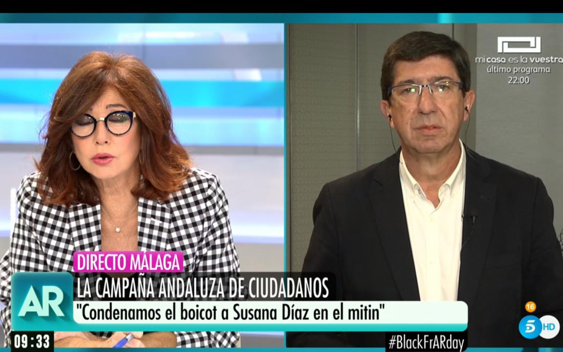Ana Rosa Quintana y Juan Marín