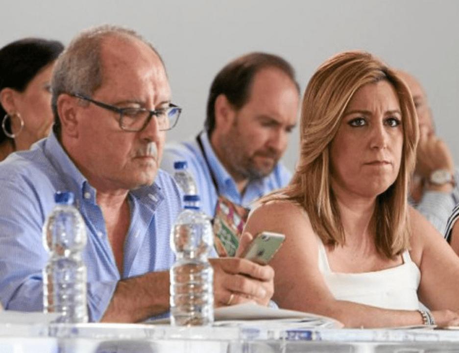 Juan Cornejo y Susana Díaz tras la debacle electoral del 2D