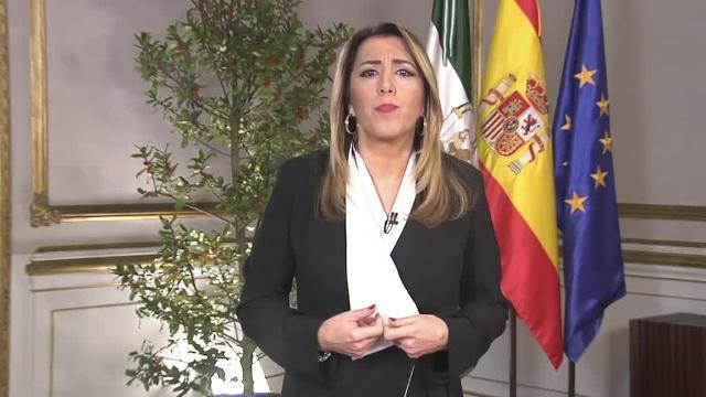 Susana Díaz en su última aparición navideña