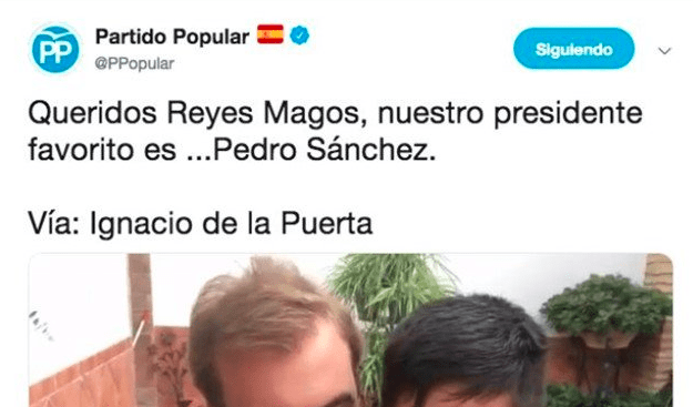 Tuit del PP