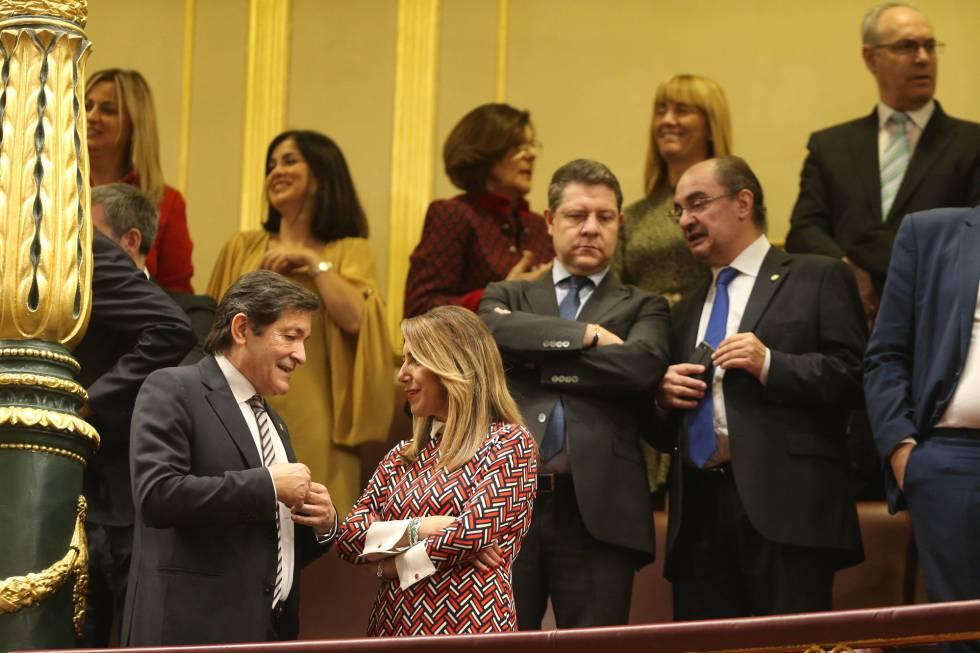 Los barones del 'golpe' susánida: Fernández, Díaz, García-Page y Lambán