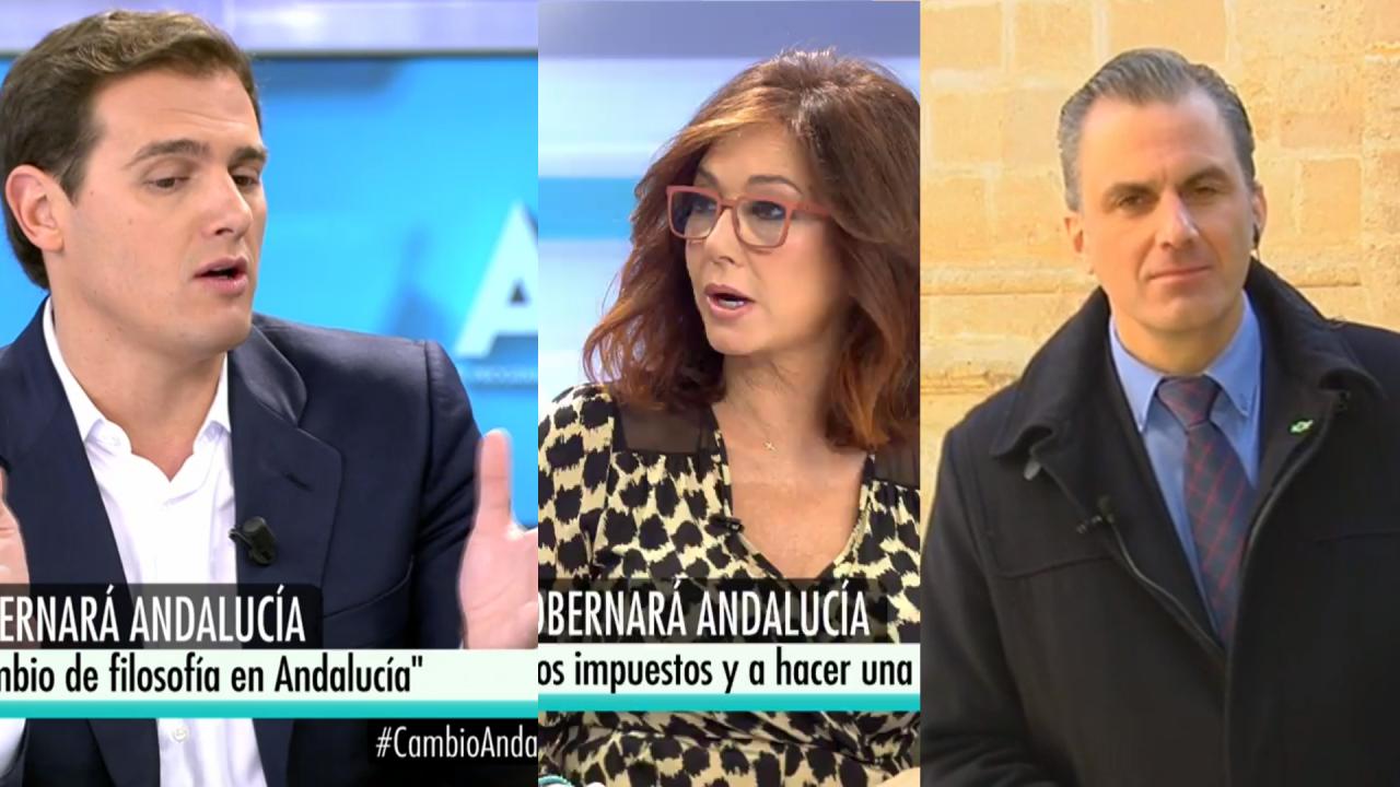 Rivera, Ana Rosa y Ortega en Telecinco