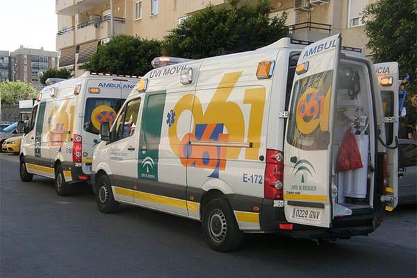 AmbulanciaS del servicio de emergencias 061