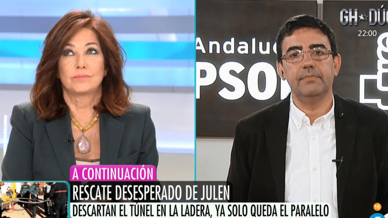 Ana Rosa Quintana y Mario JIménez
