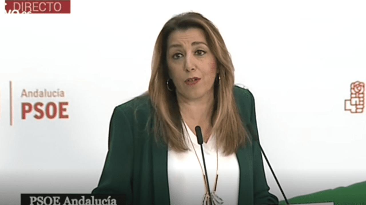 Susana Díaz, todavía presidenta de la Junta y jefa de la organización PSOE-A