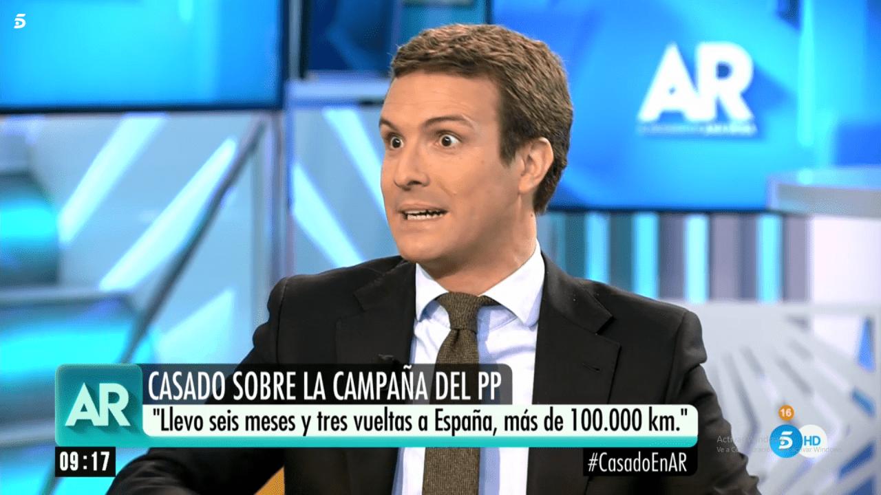 Pablo Casado en Telecinco