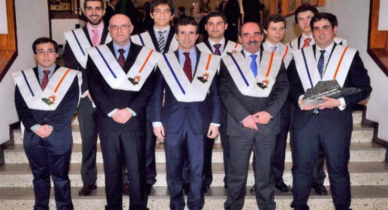 Pablo Casado en el Colegio Mayor Elías de Ahúja