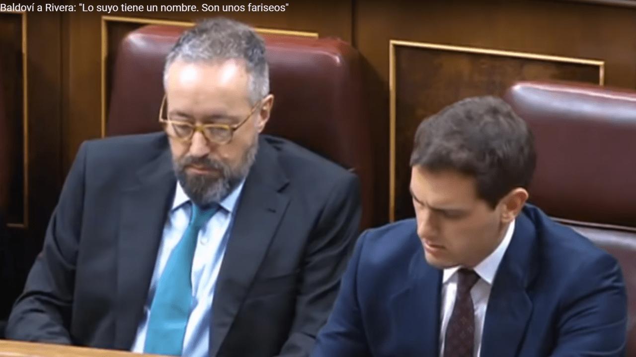 Juan Carlos Girauta y Albert Rivera. Fuente: Youtube