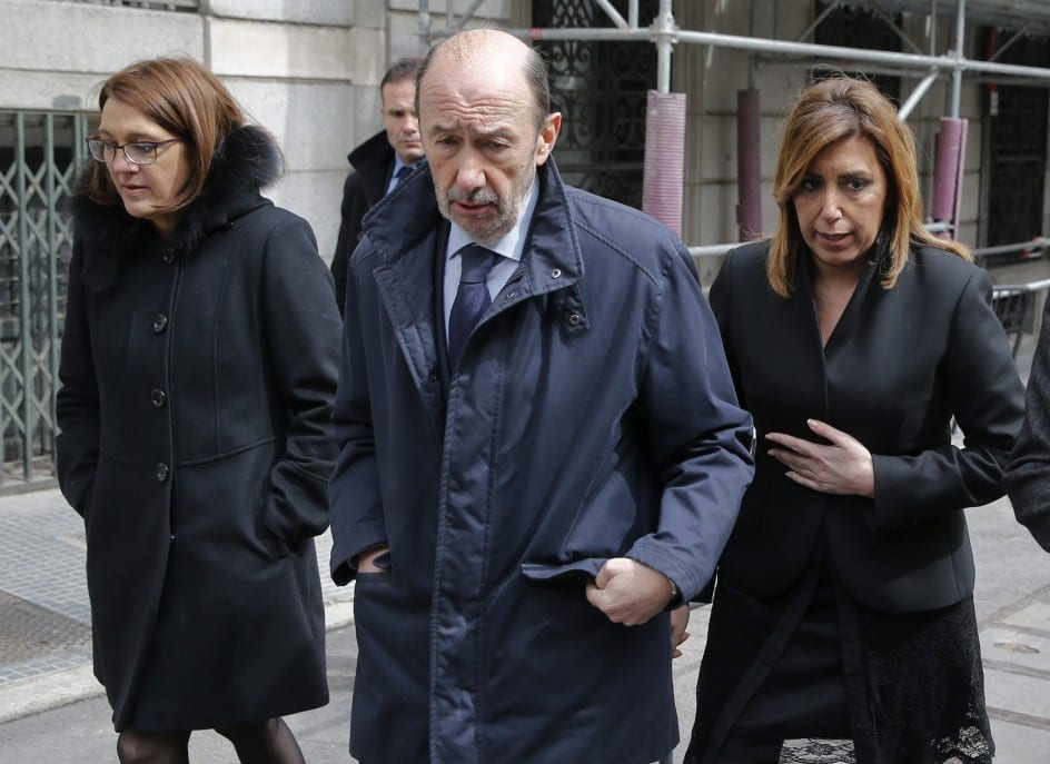 Soraya Rodríguez, Rubalcaba y Susana Díaz