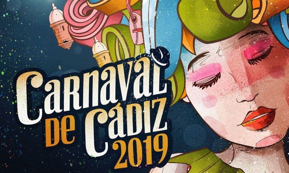 Cartel del Carnaval de Cádiz 2019