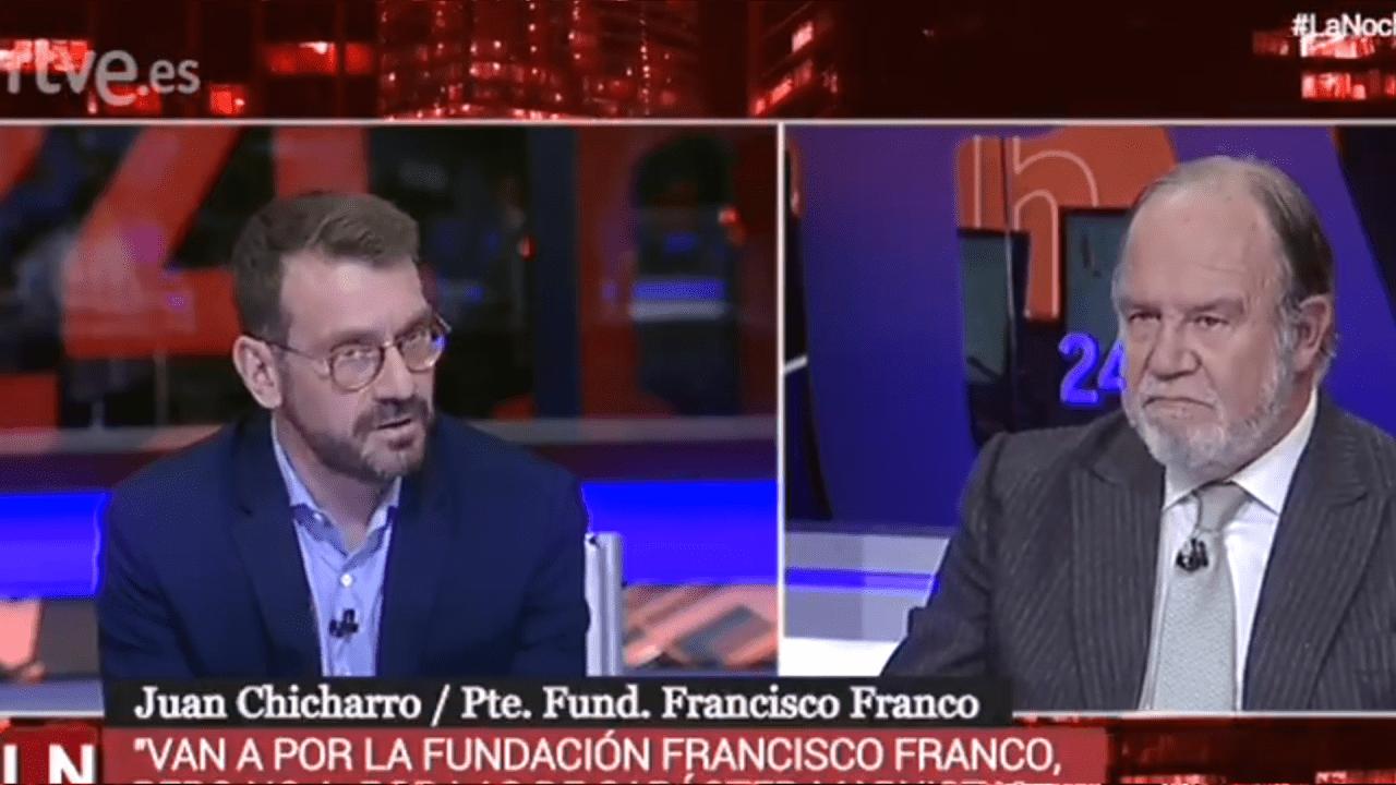 Juan Chinarro, presidente de la Fundación Francisco Franco en TVE