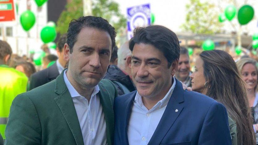Teodoro García Egea y David Pérez (PP)