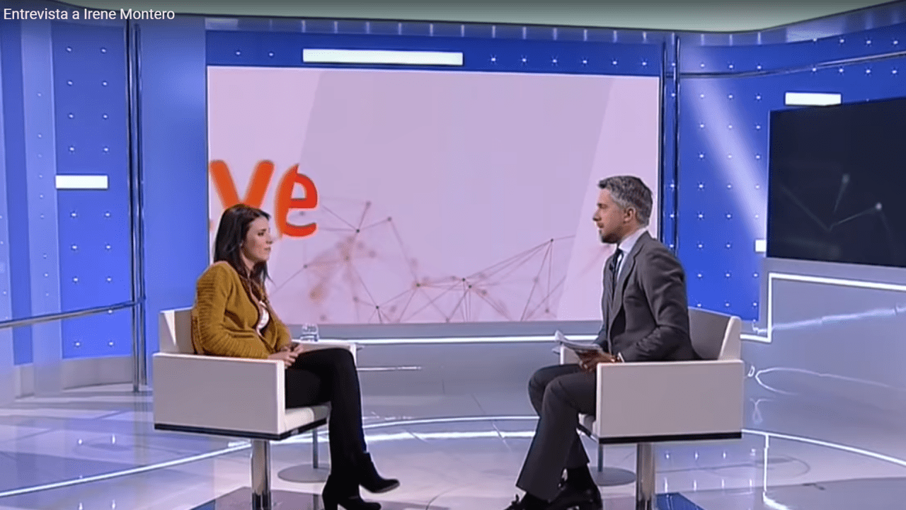 Irene Montero en TVE