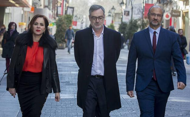 Silvia Clemente junto a José Manuel Villegas, secretario general de C's