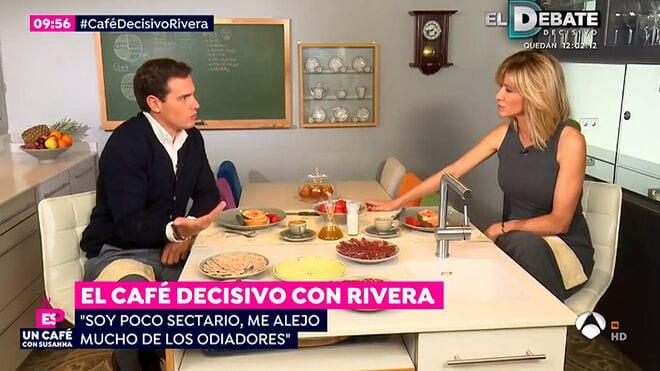 Albert Rivera y Susanna Griso en Atresmedia