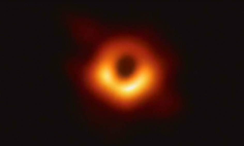 Fotografía del agujero negro hallado.