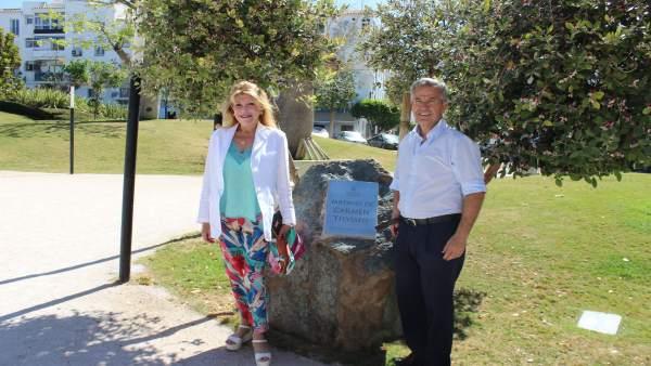 Carmen Thyssen y el alcalde de Estepona